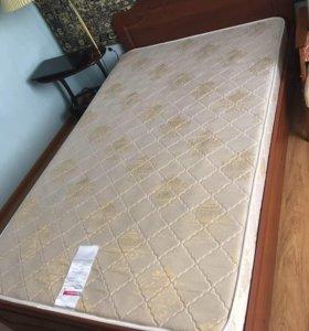 Кровать 1,5 спальная + матрац