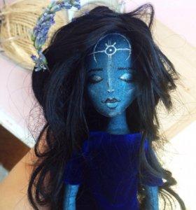 Текстильная интерьерная кукла ручной работы