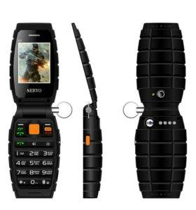Телефон раскладушка в виде гранаты