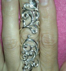 Кольцо якутское серебро 925