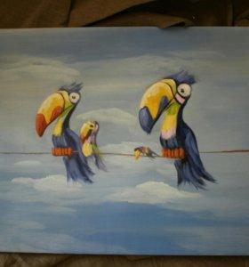 Картина Экзотические птицы