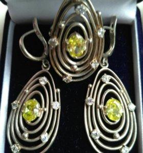 Серьги кольцо серебро 925