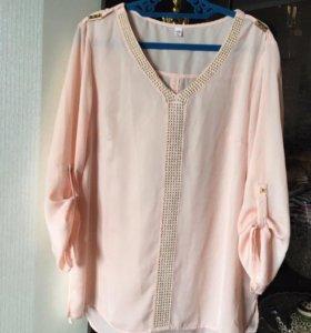 Блузка новая Zolla светло-розовая