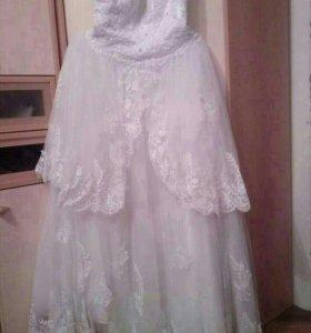 Свадебное платье размер 46 48