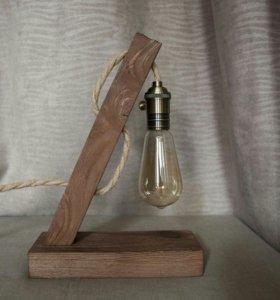 Лампа настольная (лофт; светильник; эдисон)
