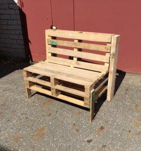 Скамья деревянная, бесплатная доставка