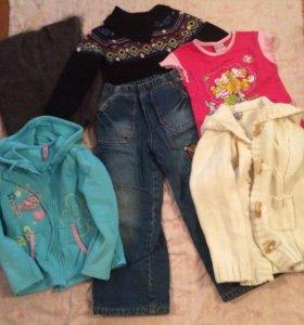Вещи пакетом на девочку 3-4 года, на зиму