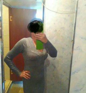 Платье -стрейч из люрекса