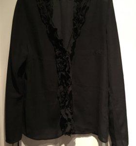 Блузка полупрозрачная