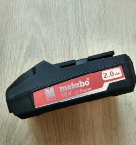 Аккумулятор metabo 18v 2ah li-power