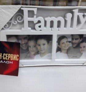 Рамка Family на 2 фото