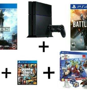 Sony Playstation 4 в отличном состояние+ 5 игр.