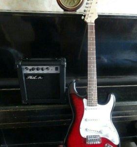 Красная Электро гитара Fender Style