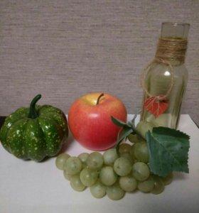 🍇Декорации.Искуственные фрукты, овощи, ваза