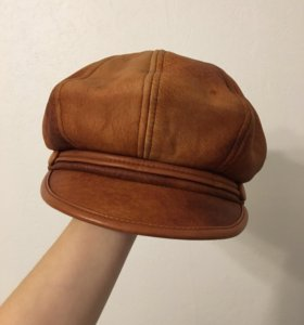 Новый берет/кепка/шапка из натуральной кожи