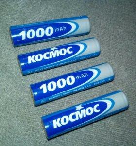 Аккумуляторы тип ААА (Мезинчиковые) 1000mah - 4шт.
