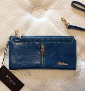 Новый, женский, синий кошелёк Balisa