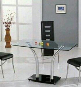 Стол обеденный закалённое стекло размер 120*70*76