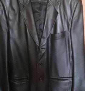 Пиджак коженый
