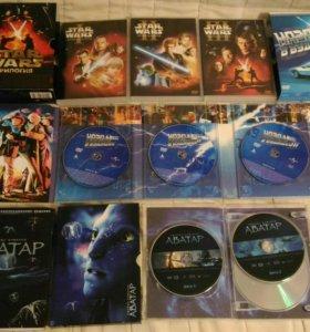 Коллекционные DVD диски с фильмами.