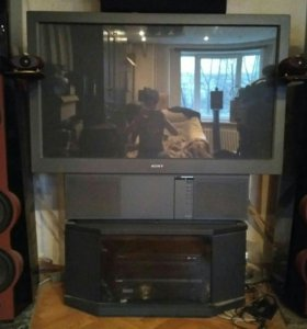 Проекционный телевизор Sony 50 дюймов lcd + тумба