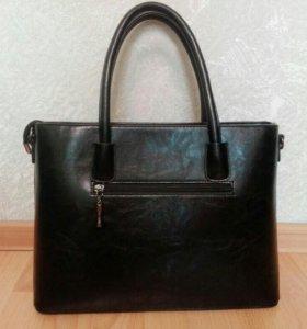 Кожо- замшевая дамская сумочка