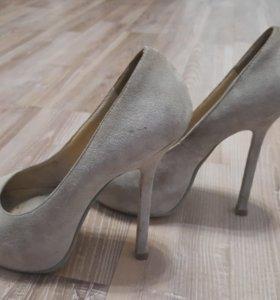 Туфли нат. Замша б.у.