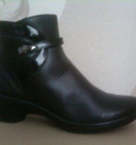 новые ботинки кожаные влагостойкие