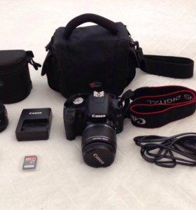 Зеркальный фотоаппарат Canon 500D+2 об-ва+SD 8Гб