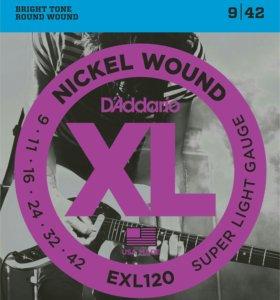 Струны для гитары D'Addario EXL120 009-042