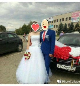 Платье свадебное. Бижутерия.