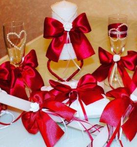 Свадебный очаг, бокалы,ларец, подушка, аксессуары