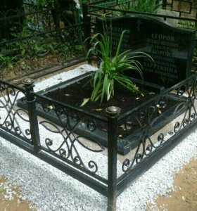 Благоустройство участка на кладбище