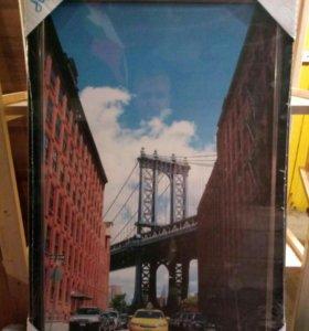 "Постер ""Бруклинский мост"""