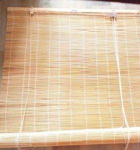 Жалюзи деревянные натуральные бамбуковые Икея