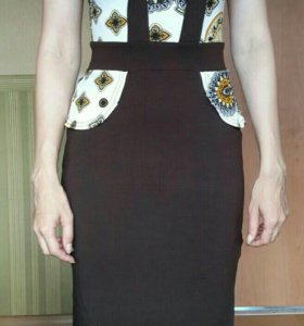 Новое коричневое платье