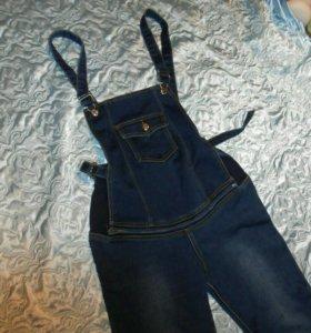 Джинсовый комбинезон-джинсы для беременных
