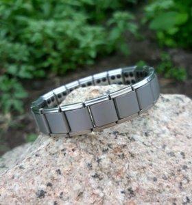 Серебряный магнитный браслет