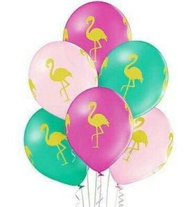 Воздушные шары с фламинго