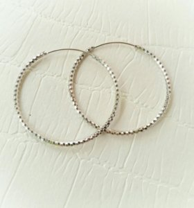 Серьги - кольца (серебро 925 пробы)