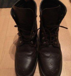 Кожаные ботинки Gant с шерстяным верхом