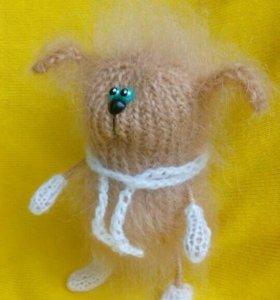 Собачка Чапа - вязаная игрушка.