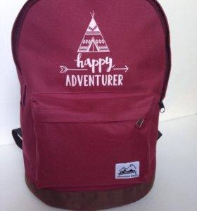 Новый бордовый рюкзак