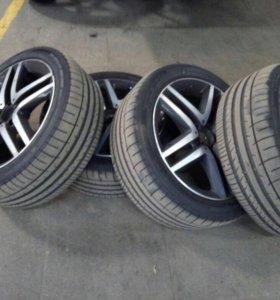 Оригинальные диски Mercedes с резиной Dunlop R19