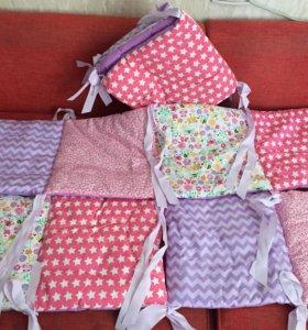 Новые бортики для детской кроватки