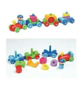 Паровозик - конструктор Go go toys