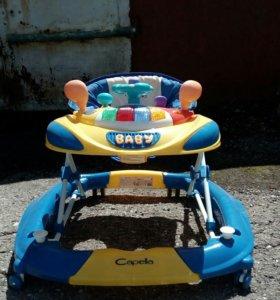 Продам дет.коляску, ходунки,стул для купания