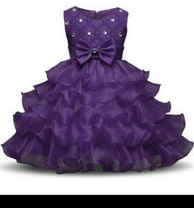 Платье на девочку на5-7