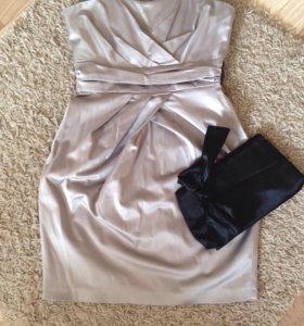 Коктейльное платье 🌺S