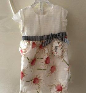 Шикарное летнее платье Для девочки 3-4 года